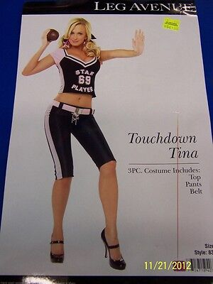 3 pc. Touchdown Tina Football Player Woman Dress Up Halloween Sexy Adult - Halloween Costume Football Player Woman