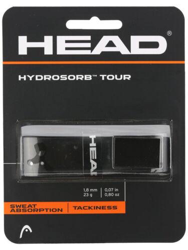 Tennis Overgrip HEAD Hydrosorb Tour Replacement Grip for Tennis Racquet - Black