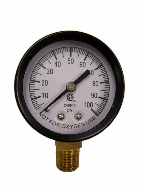 """Simmons 1305 100 PSI 1/4"""" Well Pump Water Pressure Gauge"""