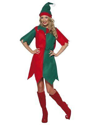 Women's ELF Christmas Party Xmas Fancy Dress Costume - Women's Elf Kostüm
