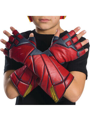 Child's Boys DC Comics Justice League The Flash Gloves Costume Accessory - Flash Boys Costume