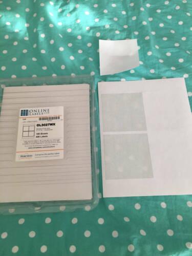 "Online Labels OL3027WX Standard White Matte 4"" x 4"" Square 4"