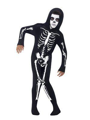 Smiffys Skelettschädel Gespenstisch Alles in Eins Kind Jungen Halloween Kostüm (Alle Jungen Halloween Kostüme)