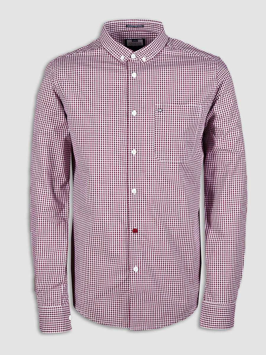 SCONTO 20% WEEKEND OFFENDER CAMICIA HETTON MANICA LUNGA GINHAM CHECK XS S L XXL