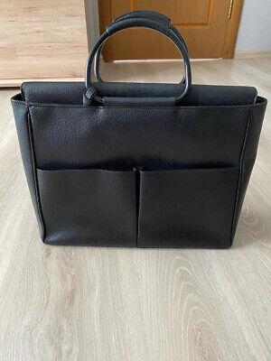 GUCCI Vintage Black Leather Tote Shoulder Bag Handbag