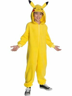 Boys Pokemon Pikachu Hooded Jumpsuit - Pokemon Costumes For Boys