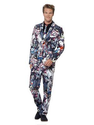 Smi - Herren Kostüm Anzug Zombie Jacke Hose Krawatte - Zombie Kostüm Männliche