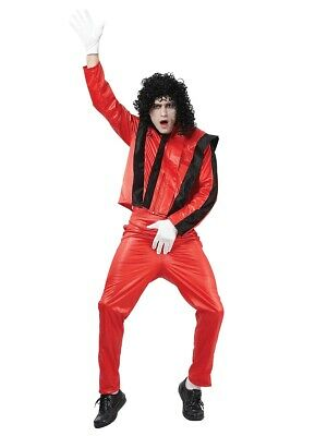 Michael Jackson Thriller 80s 90s 1980s Pop Star Mens Fancy Dress Costume Outfit - 80's 90's Outfits