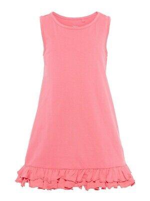 NAME IT Jersey Kleid NKFVione ärmellos rosa pink Größe 110 bis 164