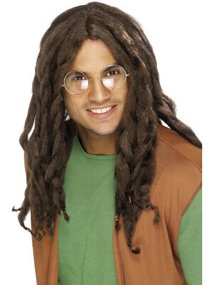 Mens Brown Rastafarian Dreadlock Wig Costume Accessory (Dreadlocks Costume)