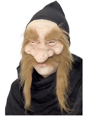 Gold Digger Costume (Adult Gold Digger Garden Gnome Dwarf Mask With Hood Costume)