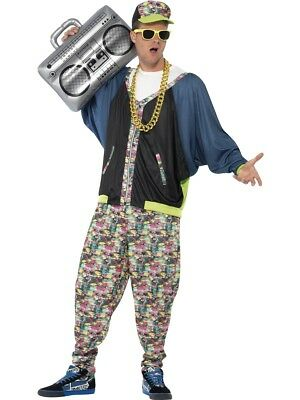 Mens 1980s Pop Star Hip Hop Rapper Costume Fancy Dress One Size