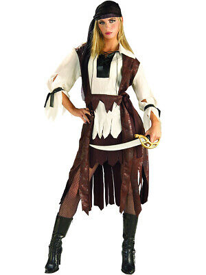 New Adults Sexy Caribbean Pirate Girl Costume Large 12 - Girl Pirates Costumes