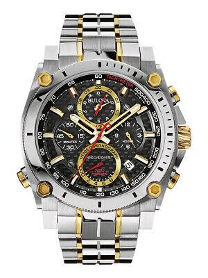 Bulova Men's Precisionist Chronograph Carbon Fiber Dial 47 mm Watch 98B228