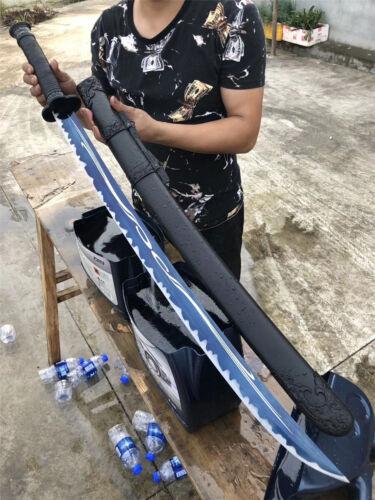 Lucky Chinese KungFu Broadsword Dao Sword Sharp Blue High Manganese Steel Blade