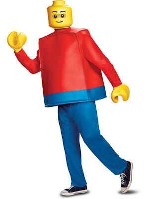 Cat Costume Men (Men's Deluxe Iconic LEGO® Guy Minifigure Costume One)