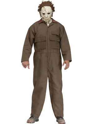Adult's Mens Deluxe Halloween Classic Slasher Villain Michael Myers Costume](Classic Mens Halloween Costumes)