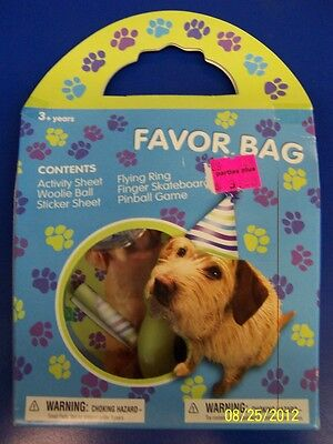 Party Pups Treat Bags - Party Pups Puppy Dog Pet Kids Birthday Party Favor Gift Toy Treat Goody Bag