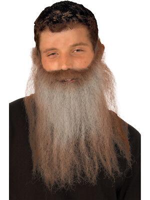 Long Brown Grey Gray Lumberjack Hunter Hunting Costume Moustache & Beard (Costume Beards)
