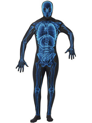 Mens Skeleton Xray Anatomy Anatomical Body Structure Bodysuit Costume](Anatomy Body Suit)