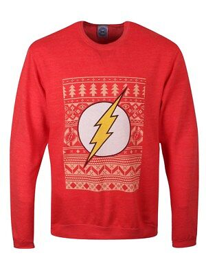 DC Comics Sweater Flash Christmas Sweatshirt Men's Red - Cheap Christmas Sweater
