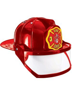 Deluxe Child Fire Fighter Costume Hard Hat Toy - Childrens Hard Hat