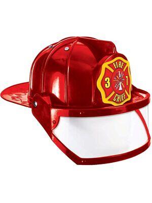 Plastic Fire Helmet (Deluxe Child Fire Fighter Costume Hard Hat Toy)