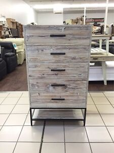 BLISS 5 DRAWER TALLBOY WHITE WASH Logan Central Logan Area Preview