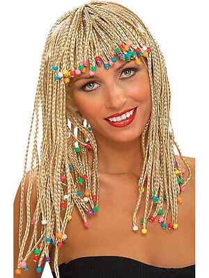 Blonde Girl Costume (Adult Blonde Beaded Caribbean Girl Costume Corn Row)