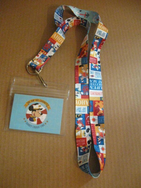 Disney Cruise line lanyard pin trading card ID holder New Mickey ship