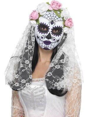 Tag der Toten Braut Maske Damen Halloween Kostüm Zubehör - Tote Braut Kostüm Zubehör