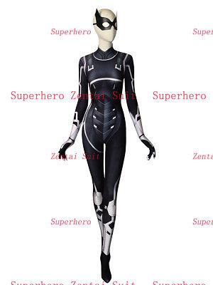Black Cat Suit The Heist Black Cat Cosplay Costume Spider-man Superhero Costume  - Black Cat Spiderman Costume