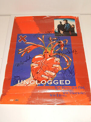 1995 X Punk L.A Punk Rock Band Unclogged Autpgraph Poster
