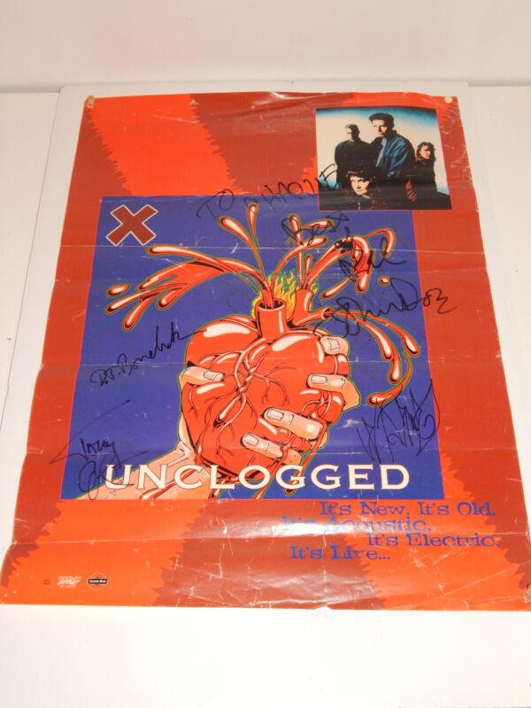 1995 X Punk L.A Punk Rock Band Unclogged Autograph Poster Signed
