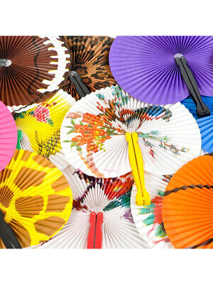 Set Of 12 Assorted Folding Hand Fans Asian Style Costume - Geisha Costume Accessories