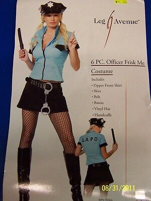 ice Officer Woman LAPD Leg Avenue Sexy Deluxe Adult Costume (Deluxe Police Officer Kostüm)