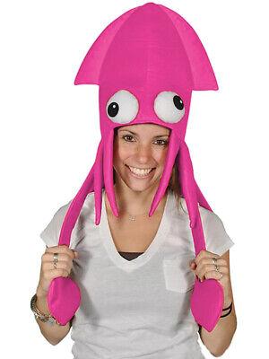 Novelty Pink Squid Octopus Hat Costume Party Hat Cap - Squid Hat