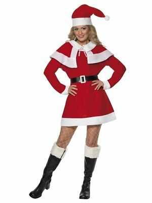 Women's MISS SANTA FLEECE Christmas Party Xmas Fancy - Fleece Womens Kostüme