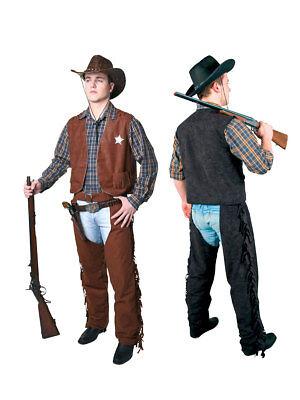 Cowboy Überhosen für Damen, Sheriff Kostüm Western
