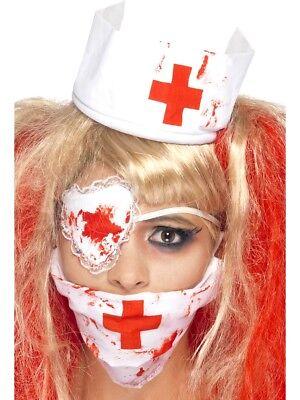 wester Satz Blood Zombie Horror Damen Kostüm Zubehör Satz (Krankenschwester Halloween Zubehör)