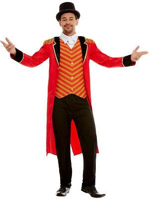 Men's Vintage Circus Carnival Ringmaster Deluxe Costume (Circus Costumes Men)