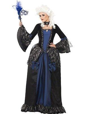 Damen Barock Beauty Dunkel Marie Antoinette Halloween Kostüm Kleid Outfit