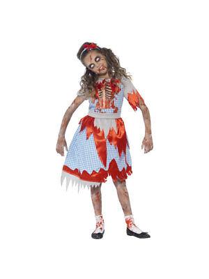 Kostüm für Kinder Zombie Countrygirl Halloween ()