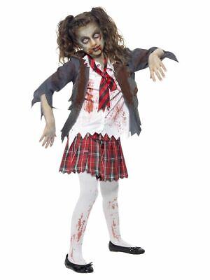 SMIFFY 43025 Zombie Schulmädchen Schülerin Karneval Mädchen Kostüm Zombiekostüm  ()