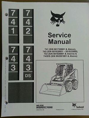 Bobcat 741 742 743 743ds Service Manual Book Skid Steer 6566109