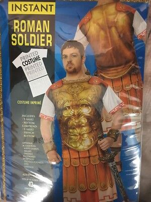 Roman Soldier Costumes (Roman Soldier Adult Printed Costume Standard Size NEW Top)
