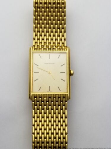 Ultra-Thin 73.2g Mens Jaeger LeCoultre Beads Of Rice 18k Gold Bracelet Watch - watch picture 1