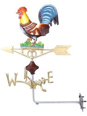 Cockerel Chicken Hen Wall Mount - Cast Iron Weathervane