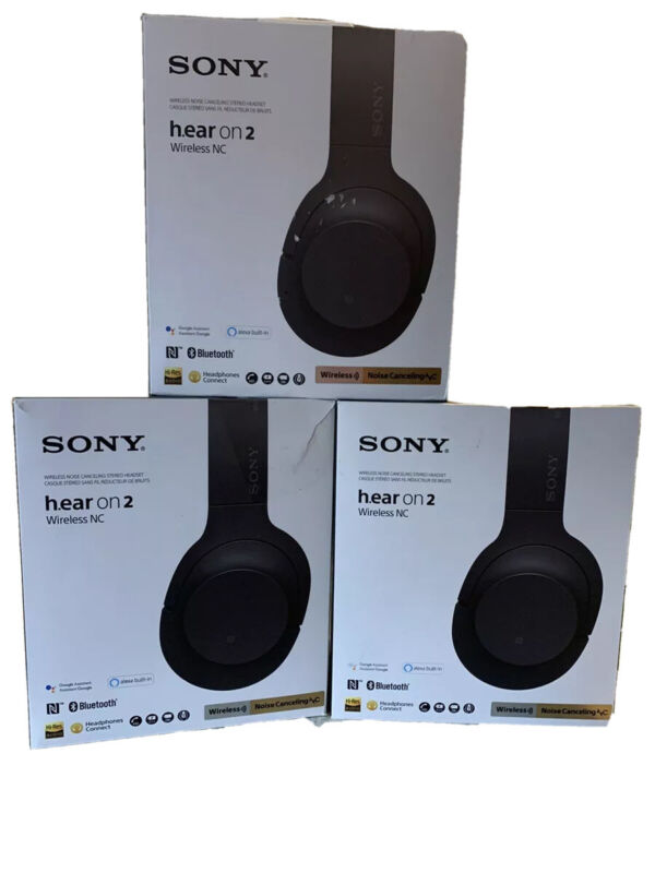 Sony WH-H900N H.ear-on 2 Wireless NC Noise Canceling Headphones Black Authentic