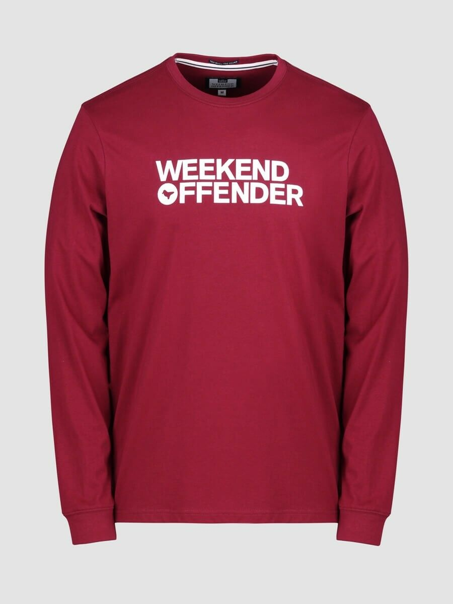 SCONTO 10% WEEKEND OFFENDER FELPA GIROCOLLO DEAN M  L XL XXL CASUAL ULTRAS